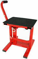 HEAVY DUTY JACK LIFT UP STAND MOTOCROSS MX ENDURO MOTOX MOTORCROSS STAND RED