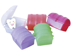 5 x  Baby first tooth holders molar treasure chest plastic colorful fun kids