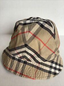 Burberry Vintage Cotton Nova Check Hat Uni Sex