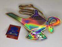 Official Disney Aladdin Holographic Gold Genie Lamp Cross Body Bag Kids