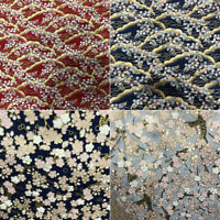 Japanese Cotton Fabric Cherry Blossom Sewing Fabric Patchworks Quilting DIY