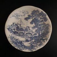 Assiette plate céramique faïence GIEN BP architecture art déco 1950 France N4627