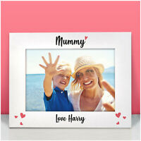 PERSONALISED Love Heart Birthday Photo Frame Gifts for Mummy Nanny Mam Mom