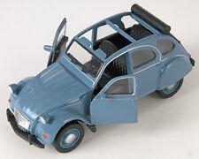 BLITZ VERSAND Citroen 2 CV offen blau / blue Ente Welly Modell Auto NEU & OVP