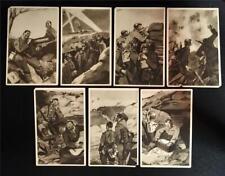 7 Original Wwi Italian Army Postcards Front Line Trench Warfare Illustrations Nr
