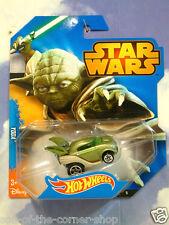 EXCELLENT MATTEL HOT WHEELS STAR WARS YODA JEDI MASTER CAR GREEN MINT & CARDED!!