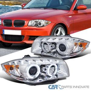 For BMW 04-11 E87 07-11 E81 07-13 E82 E88 LED Dual Halo Projector Headlights
