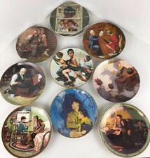 Lot Of 9 Norman Rockwell Artwork Collector plates By Gorham & Knowles