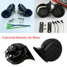 1Pair Loud Dual-tone Snail Horn Universal Car Truck Electric Air Horn 12V 110 dB