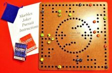 Marbles Pursuit Joker Board Game 4 & 2 player, Felt Backing, Smooth Hard Finish