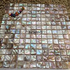 square shell mosaic mother of pearl kitchen backsplash bathroom decorative tile