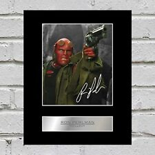 Ron Perlman signed Photo Display Hell Boy