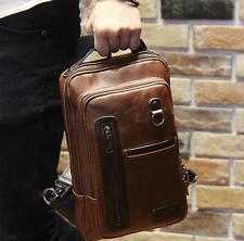 UK men travel Leather Messenger Shoulder handbags phone wallet chest small Bag
