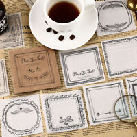Memo Pad Kawaii Transparent Notepad Paper Sticker Sticky Notes Planner Stickers
