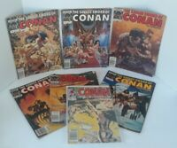 Vintage Lot of 7 The Savage Sword Of Conan The Barbarian Marvel Magazine Comic🔥