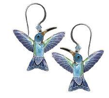 Broad-Billed Hummingbird Earrings 925 Sterling Silver Swarovski Crystal Gift Box
