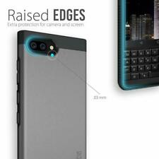 BlackBerry KEY2 Case Durable Rugged Extreme Drop Protection Cover Metallic Slate