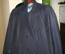 Calvert Clothes Pin Striped 2 Piece Blue Suit Size 40 Reg.