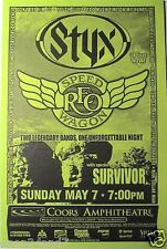 STYX / REO SPEEDWAGON / SURVIVOR 2000 SAN DIEGO TOUR POSTER -Two Legendary Bands