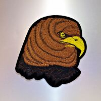 Bald Eagle Patch — Iron On Badge Embroidered Motif — Bird Animal Applique