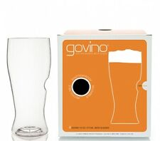 2 Pack x Govino Beer 16 Oz Glasses Shatterproof Recyclable | Total Of 8 Glasses