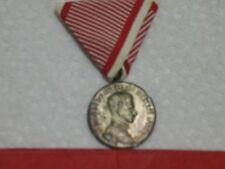 Original Austria WWI SILVER Kaiser Karl Bravery Medal with Ribbon German 1914-18