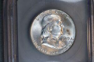 1949-S 50C Franklin Silver Half Dollar ICG MS63 BU UNC MS