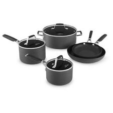 Select 8-Pcs Hard Anodized Non-Stick Fry Sauce Pan Dutch Oven Lid Cookware Set