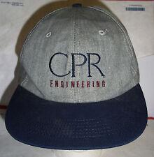 CPR Engineering Gray Cap Navy Blue Brim Golf or On Site Work Hat Adjustable