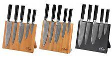 Bambus Holz Magnetisches Messerbrett , Messerblock,  braun ,schwarz ohne Messer