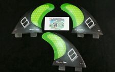 FCS Shapers fins Australia surfboard fins S3 Carbon Stealth thruster - Small -