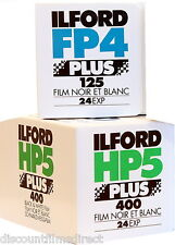 ILFORD FP4 & HP5 35mm 24 exposure B&W 2 FILM TRIAL PACK BY 1st CLASS POST