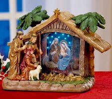 Fiber Optic Nativity Christmas Tabletop Centerpiece Tree Decor Wreath Swag Gift