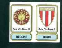 Figurina Calciatori Panini 1981-82! N.506! Scudetti Reggina/Rende!!