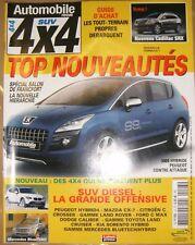 Automobile revue SUV 4X4 2009 Cadillac SRX 3008 Hybride BMW X1 Mercedes BlueZero