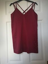 Missguided red satin effect dress size 8