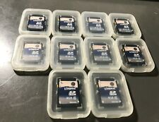 Lot of 10 Kingston 4 GB Class 4 SDHC Flash Memory Card SD4/4GB