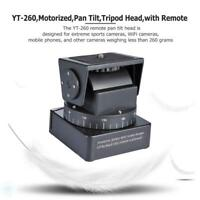 YT-260 Motorized Pan Tilt Tripod Head with Remote Control for Camera Phone