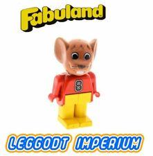 LEGO Fabuland Max Mouse - rare minifig fab9b FREE POST