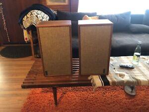 Vintage Pair Of KLH Model Twenty-Four 24  Loudspeaker System Speakers