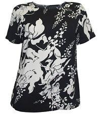 VERO MODA Bluse Gr. S 36 schwarz weiß Blumen Tunika Blusenshirt neu