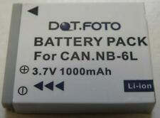 Replacement NB 6LH 1000mAh Battery for Canon NB-6L SX510 SX170 S200HS