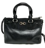 SALVATORE FERRAGAMO SMALL BLACK 'BEKY' BAG, $1950