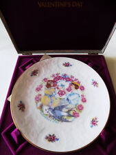 Royal Doulton Valentine's Day Plate My Valentine in Hinged Box 1977