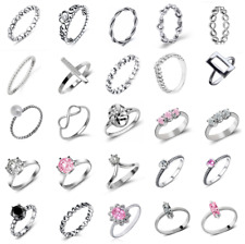 925 Sterling Silver Many Mixed Design Rings Sizes J to Q (NOT PLATED,UK STOCK)