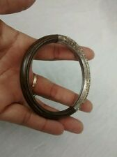 antique Chinese silver dragon motif rattan  bangle bracelet
