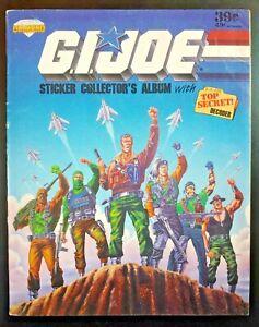 GI JOE, Stickers Collector's Album (1987 Diamond Hasbro Corp) GD Book