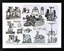 1874 Bilder Technology Print - Various Grinding Machine Ball Mill Grinder etc