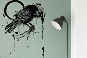 Wall Vinyl Sticker Decal raven vinyl bird runes custom vinyl decal for kids g109