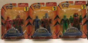 Power Rangers Jungle Fury Lot Of 3 Battle Gear Rangers Figures Sealed 2008